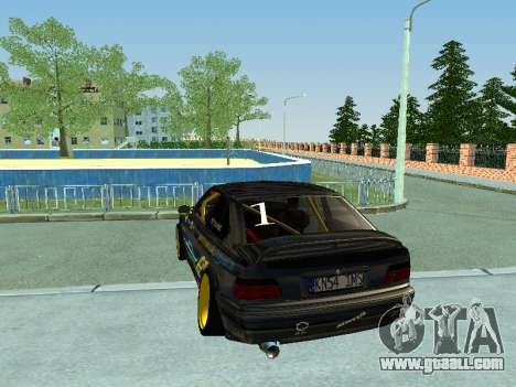 BMW M3 E36 Compact Darius Kepezinskas for GTA San Andreas right view