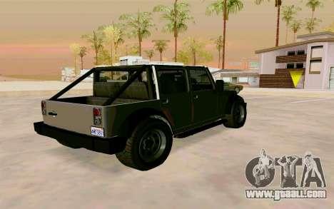 GTA V Mesa for GTA San Andreas left view