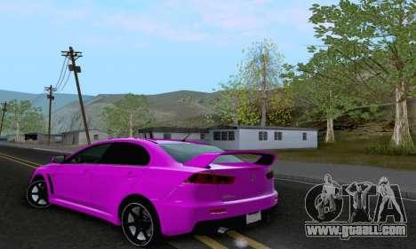 Mitsubishi Lancer X Evolution for GTA San Andreas side view