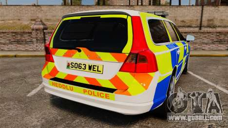 Volvo V70 South Wales Police [ELS] for GTA 4 back left view