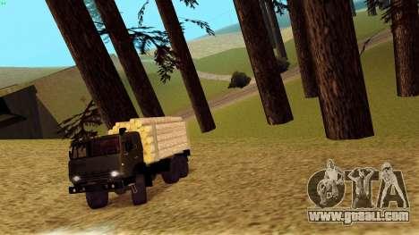 KamAZ 4310 Brevnova for GTA San Andreas side view