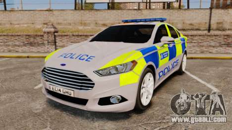 Ford Mondeo 2014 Metropolitan Police [ELS] for GTA 4