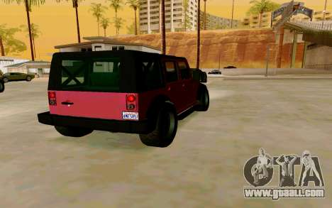 GTA V Mesa for GTA San Andreas back left view