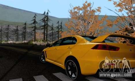 Mitsubishi Lancer X Evolution for GTA San Andreas back left view