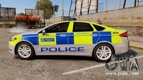 Ford Mondeo 2014 Metropolitan Police [ELS] for GTA 4 left view