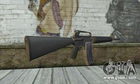 M4A1 из Postal 3 for GTA San Andreas second screenshot