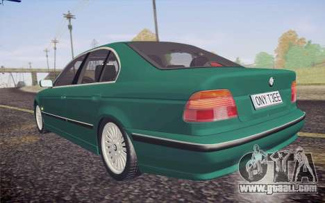 BMW M5 E39 528i Greenoxford for GTA San Andreas inner view