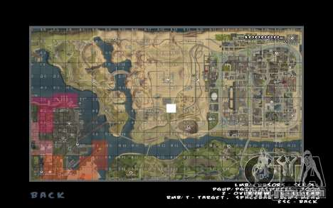 Rapid opening map for GTA San Andreas second screenshot