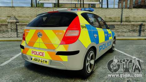 Hyundai i30 Metropolitan Police [ELS] for GTA 4 back left view