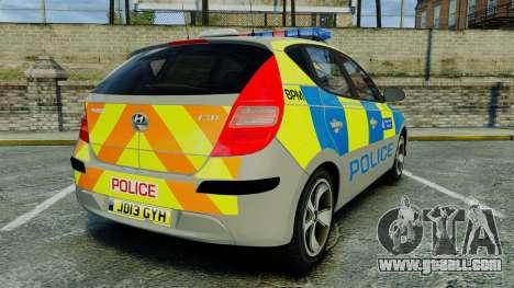 Hyundai i30 Metropolitan Police [ELS] for GTA 4 back left view