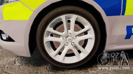 Ford Mondeo 2014 Metropolitan Police [ELS] for GTA 4 back view