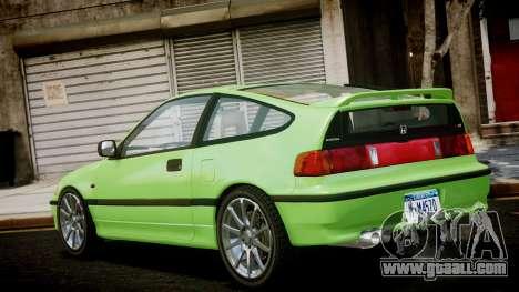 Honda CR-X for GTA 4 left view