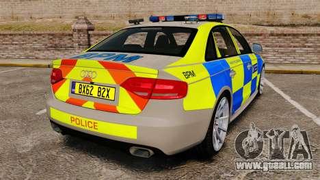 Audi S4 ANPR Interceptor [ELS] for GTA 4 back left view