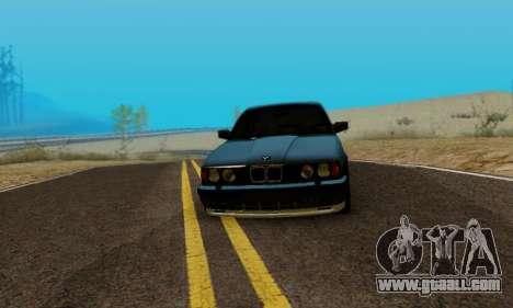 BMW M5 E34 1992 for GTA San Andreas back left view