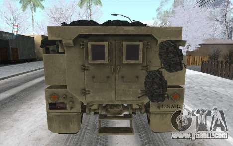MRAP of BF4 for GTA San Andreas back left view
