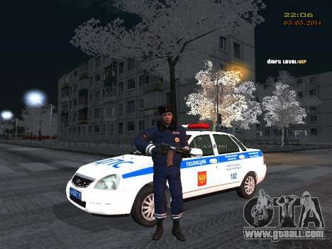 Pak DPS in a winter format for GTA San Andreas forth screenshot