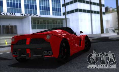 Ferrari LaFerrari v1.0 for GTA San Andreas back left view