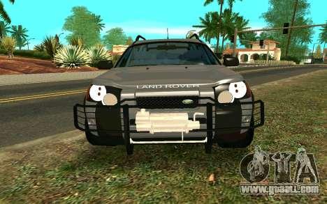Land Rover Freelander for GTA San Andreas inner view