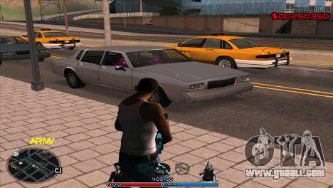 C-Hud Army by Kin for GTA San Andreas second screenshot