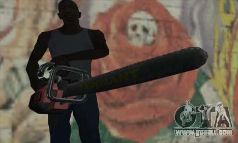 Manhunt Kettensäge for GTA San Andreas third screenshot