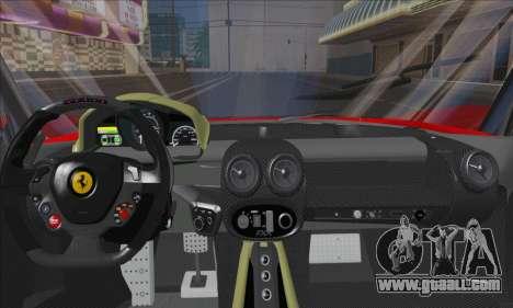 Ferrari LaFerrari v1.0 for GTA San Andreas inner view