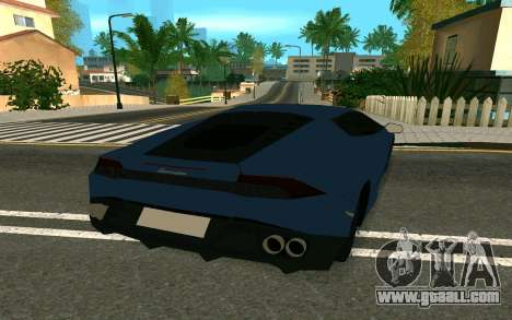 Lamborghini Huracane LP610-4 for GTA San Andreas