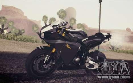 Yamaha YZF R1 2012 Black for GTA San Andreas