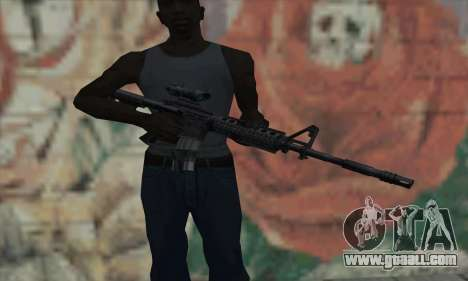M4 RIS Acog Sight for GTA San Andreas third screenshot