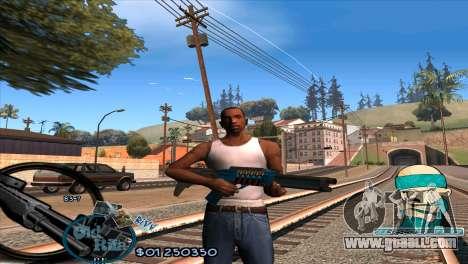 C-HUD Rifa by HARDy for GTA San Andreas