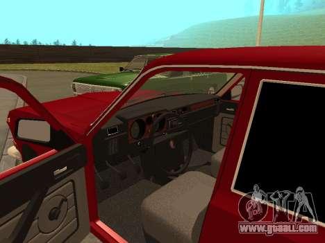 GAZ Volga 24-10 for GTA San Andreas back view