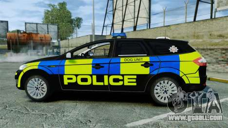 Ford Mondeo Estate Police Dog Unit [ELS] for GTA 4 left view