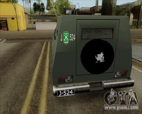 Zorrillo FF.EE for GTA San Andreas left view