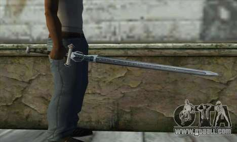 Gothic 2 Sword for GTA San Andreas third screenshot