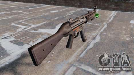 HK MP5 submachine gun with flashlight for GTA 4 second screenshot