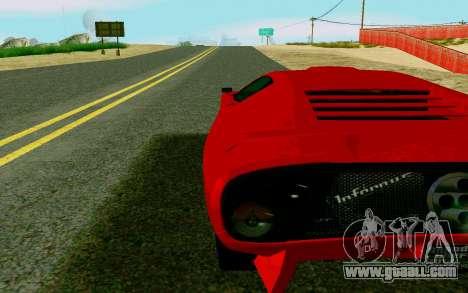 GTA V Pegassi Infernus for GTA San Andreas back left view