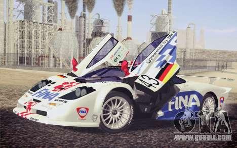 McLaren F1 GTR Longtail 22R for GTA San Andreas wheels