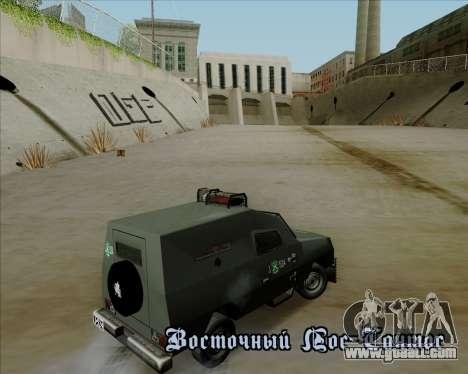 Zorrillo FF.EE for GTA San Andreas inner view