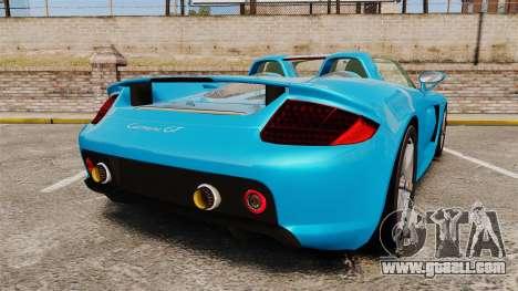 Porsche Carrera GT for GTA 4 back left view