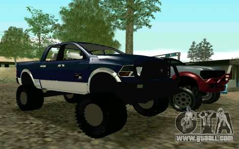 Dodge Ram 4x4 for GTA San Andreas left view