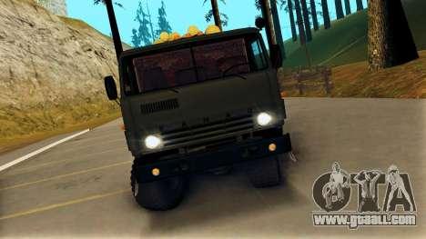 KamAZ 4310 Brevnova for GTA San Andreas right view