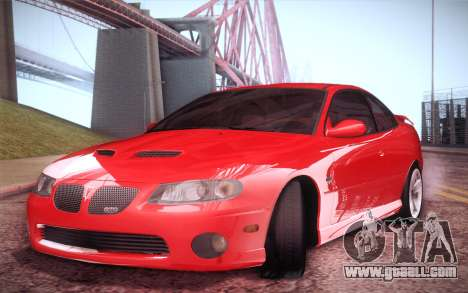 Pontiac GTO 2005 for GTA San Andreas back left view
