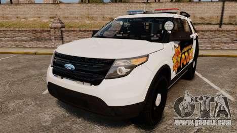 Ford Explorer 2013 LCPD [ELS] v1.5X for GTA 4