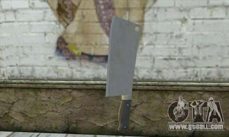 Kitchen knife from Postal 3 for GTA San Andreas