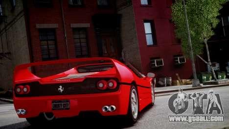 Ferrari F50 1995 for GTA 4 back view