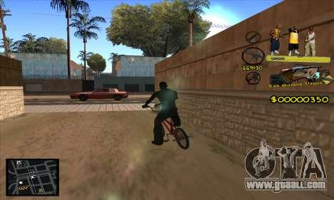 C-HUD Vagos Gang for GTA San Andreas