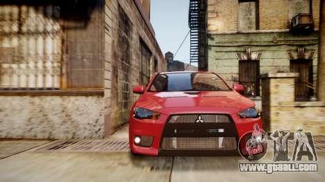 Mitsubishi Lancer Evolution X 2009 v1.3 for GTA 4 right view