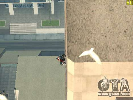 Riding on walls and ceilings v2.0. for GTA San Andreas fifth screenshot