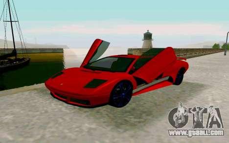 GTA V Pegassi Infernus for GTA San Andreas