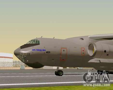 Il-76md-90 (IL-476) for GTA San Andreas back left view