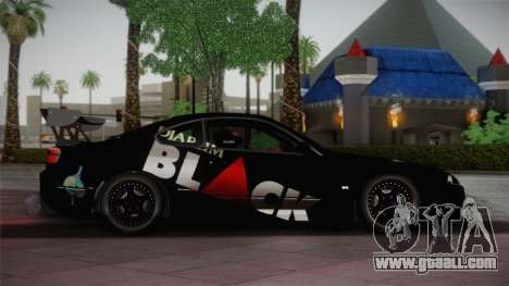 Nissan S15 Street Edition Djarum Black for GTA San Andreas left view